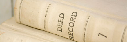 Deed book spine